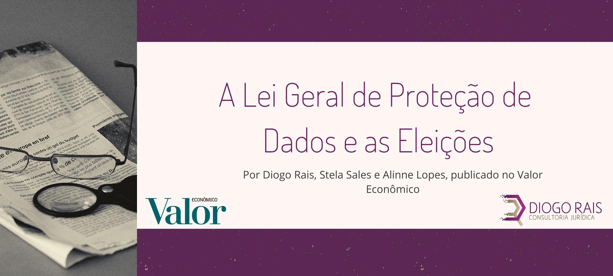 Capa de A Lei Geral de Proteção de Dados e as eleições